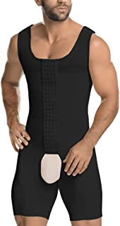 Men's Shapewear Bodysuit Tummy Control Compression Slimming Body Shaper Workout Abs Abdomen Undershirts