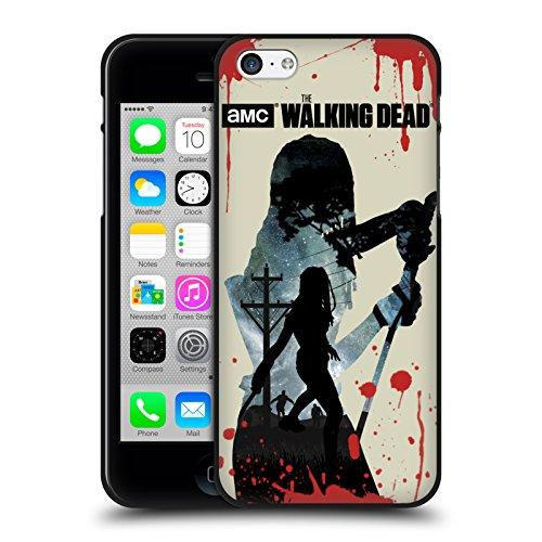 Head Case Designs Oficial AMC The Walking Dead Michonne Siluetas Funda de Gel Negro Compatible con Apple iPhone 5 / iPhone 5s / iPhone SE 2016