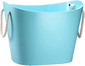 Laundry Basket Environmental Protection PP High Capacity Clothes Hamper Cotton Rope Toughness And Softness, 3 Colors (Colo...