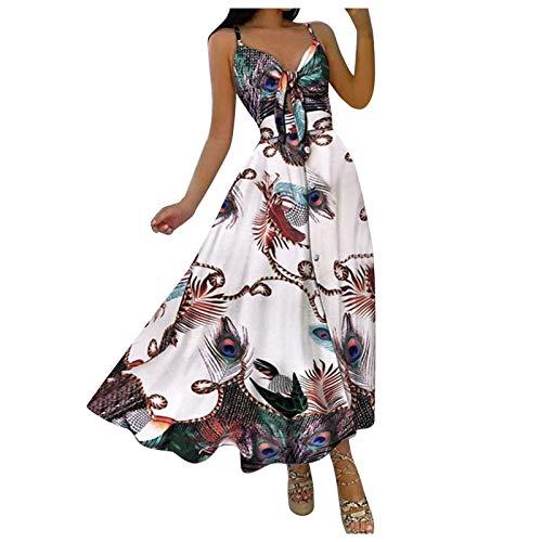 Vestido largo de mujer sin mangas con botones, cuello en V, para mujer, vestido hawaiano, vestido largo para verano, vestido de fiesta de princesa, para adultos, azul marino, Small