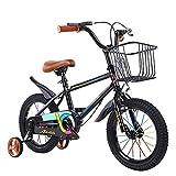 12/14/16/18 Pulgadas Bici Infantiles Bicicleta para NiñOs con Ruedas Auxiliares Asiento De Espuma De Cuero Ajustable Frenos Dobles NeumáTicos Apto para NiñOs Y NiñAs De 2 A 12 AñOs