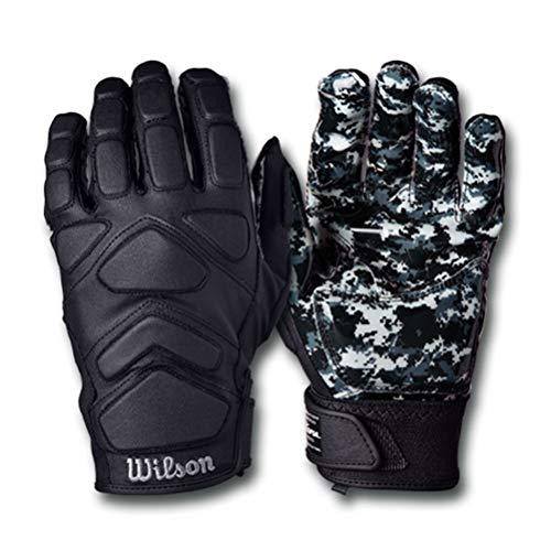 Wilson MVP Tacktech Lineman American Football Handschuhe - schwarz Gr. M