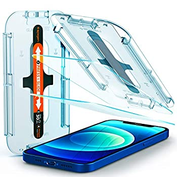 Spigen Tempered Glass Screen Protector [Glas.tR EZ Fit] designed for iPhone 12  2020  / iPhone 12 Pro  2020  [Case Friendly] - 2 Pack