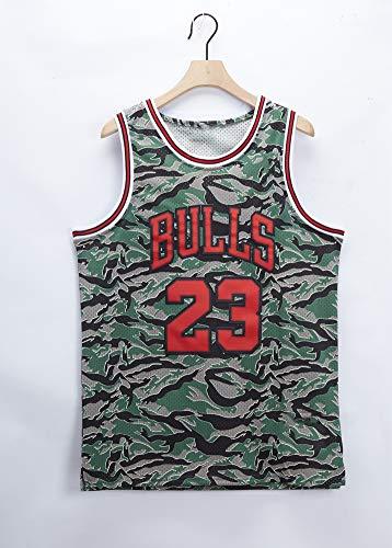 GLACX NBA Chicago Bulls 23# Jersey de Baloncesto para Hombre Jordan, Camiseta de Chaleco de Malla de Malla Bordada sin Mangas, Camiseta,M