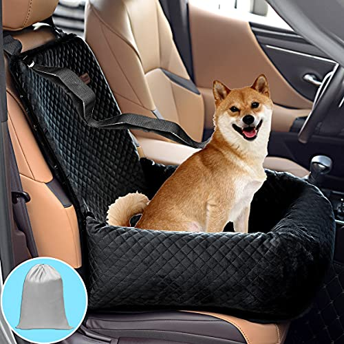 Dog Car Seat Pet Booster Seat Pet Travel Safety Car Seat,The Dog seat Made of Materials is Safe and Comfortable, and can be Disassembled for Easy Cleaning(Solid Black)