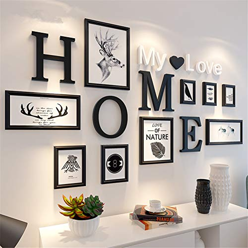 HAOLY Kreative Fotorahmen Wand,Foto-Collage-Rahmen,fotowand Rahmen, Bilderrahmen An Der Wand,Wohnzimmer Fotowand-m