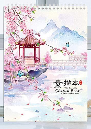 Cuaderno de bocetos con clase Papel de cartucho blanco sin ácido 8K adecuado para lápices, pasteles, bolígrafos y rotuladores-8K-4