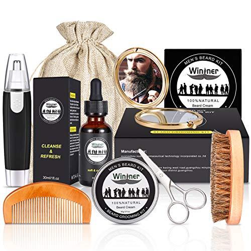 Kit Barba Cuidado Para Hombres Profesional, con Cepillo...