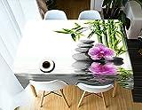 XXDD Mantel 3D patrón de Diente de león Cubierta de Mesa Mantel Rectangular Lavable Cubierta de Mesa para el hogar A1 140x160cm