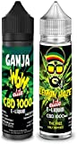 Oferta 2x 50ml cbd 1000mg   Lemon Haze Elite + Ganja WoW Elite   sabor de maryiuana con terpenos naturales - Liquido para cigarrillo electronico E-liquid SIN NICOTINA no nicotina no tabaco