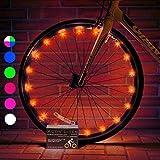 Activ Life Lumières LED pour Roue de vélo avec Piles incluses ! pour être Visible à 100% et éclairé sous Tous Les Angles....
