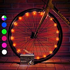 Be cool! As seen on FOX, ABC, NBC and CBS News, these LED bike lights for wheels from Activ Life are the hottest new thing to hit SoCal and trend-setting cities across America. Fun stocking stuffers for kids or christmas gifts for men who have everyt...