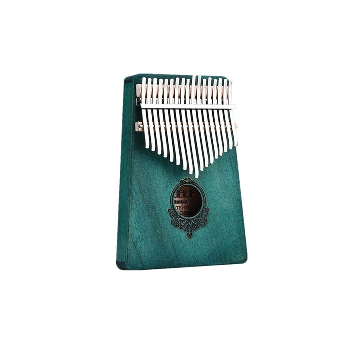 松の木収縮後者17トーンの親指ピアニスト指ピアノ初心者エントリー楽器、家族や友人のための最高の贈り物 (Color : Green)