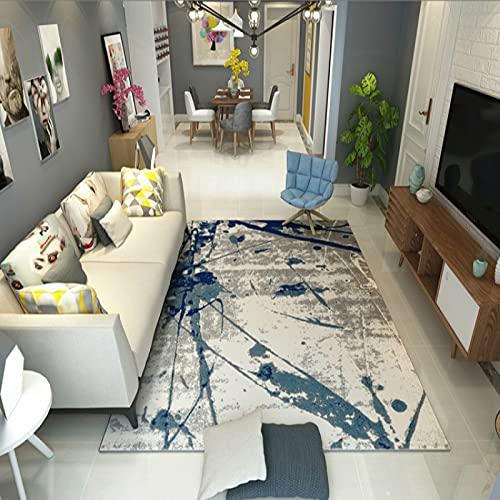 ZAZN Alfombra Creativa De Tinta China, Sala De Estar En Casa, Mesa De Café, Alfombra del Piso del Sofá del Dormitorio, Material Lavable Antideslizante Resistente Al Desgaste