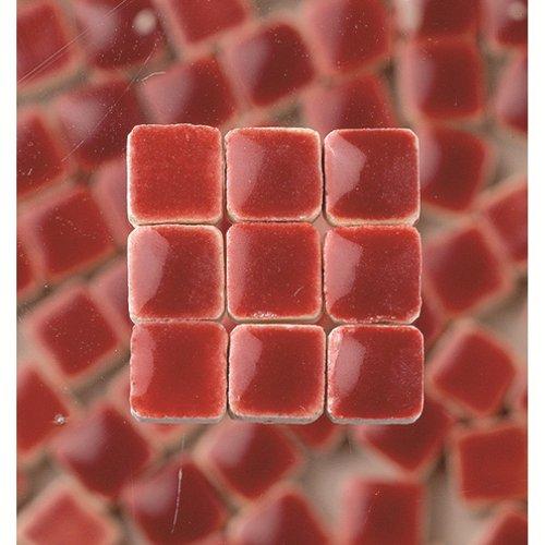 MosaicMicros 5 x 5 x 3 mm, 10 g, Confezione da 100 Pezzi, in Ceramica Smaltata, Mini mattonelle a Mosaico, Colore: Viola