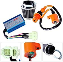 Motorcycle Racing Performance Ignition Coil +CDI Box + Air Filter Kit for GY6 50cc 150cc Moped Go Kart Dirt bike