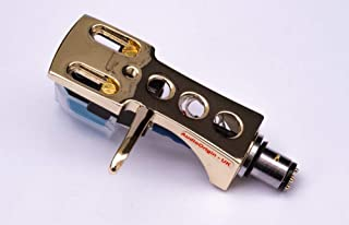 Gold plated Headshell, mount with cartridge and stylus, needle for Technics SL 1000, SL 1100, SL 1200, SL 1210, SL 1300, SL 1301, SL 1310, SL 1350, SL 1400, SL 1401, SL 1410, - MADE IN ENGLAND