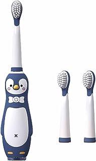 Elektryczna szczoteczka do zębów dla dzieci, Cartoon typu akumulator, odpowiednia dla dzieci w wieku 3-12 lat z miękkim wł...