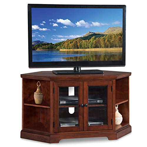 Leick Riley Holliday 46' Corner TV Stand in Chocolate Cherry