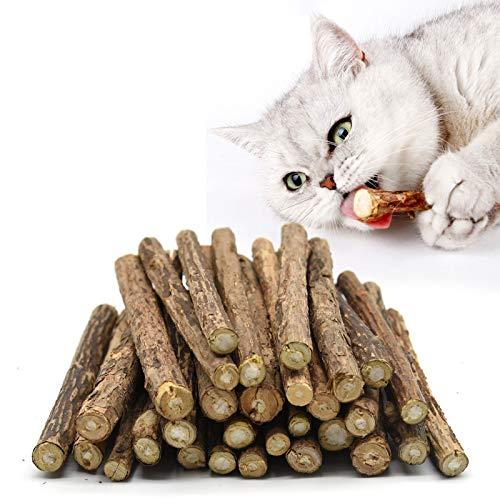 onebarleycorn - Bastoncini di erba gatta per gatti, giocattolo da masticare per gatti naturale Matatabi trattamento dentale, confezione da 20 pezzi