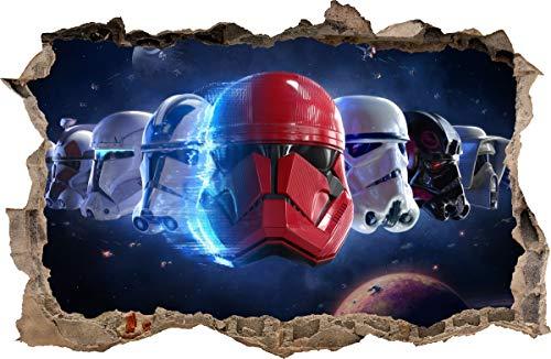 WANDAUFKLEBER Loch in der Wand Star Wars Stormtroopers Wandtattoo 101 (L - 70 x 46 cm)
