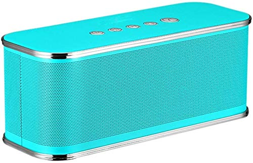 Mopoq Drahtlose Bluetooth-Lautsprecher - Tragbare Subwoofer Handy-Miniauto-Audiokarte Computer-Lautsprecher Außen Square Dance Ton Speake (Color : Blau)