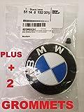 CELI USA BMW Hood roundel emblem logo replacement hood 82mm + 2 Grommets for ALL Models BMW E30 E36 E46 E34 E39 E60 E65 E38 X3 X5 X6 3 4 5 6 7 8