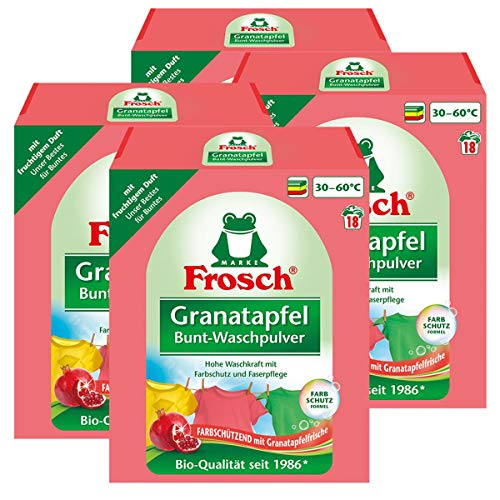 Frosch Granatapfel Bunt-Waschpulver 1,35 kg - Mit fruchtigem Duft (4er Pack)