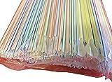 Cuchara Straws 200x Multicolor Pajitas para Granizados, Zumos y Batidos