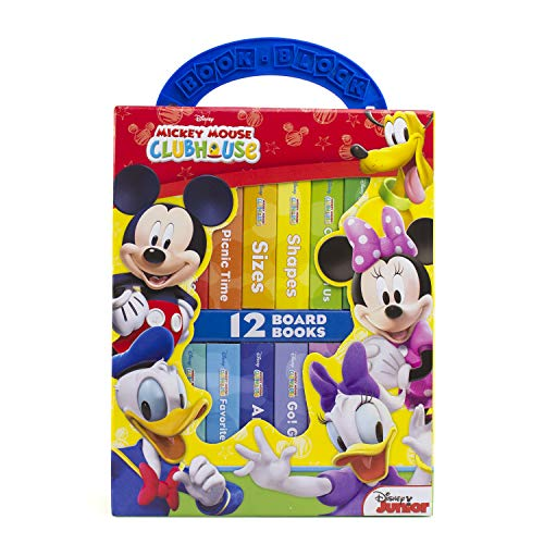 Disney Junior Mickey Mouse Clubhouse - My First Library Board Book Block 12-Book Set - PI Kids