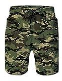 RAISEVRN para Hombre Pantalones Cortos de Verano con Estampado de Camuflaje 3D de Secado rápido, Pantalones Hawaianos Divertidos con Forro de Malla, Traje de baño Vacaciones XL