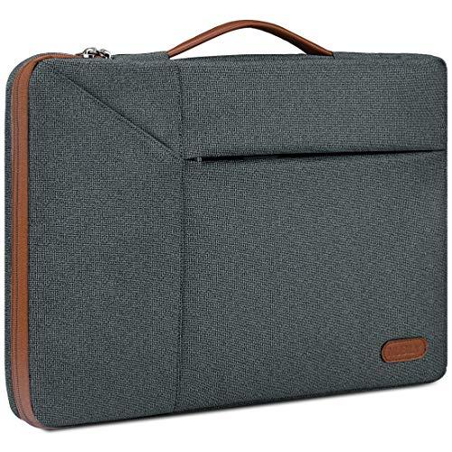 NUBILY Custodia Borsa Porta PC 15 15,6 Pollici Borsa Sleeve Antiurto Impermeabile Custodia per Laptop Notebook, Ultrabook e Netbook HP/Acer/dell/Lenovo/Sony/Toshiba ECC - Grigio Scuro