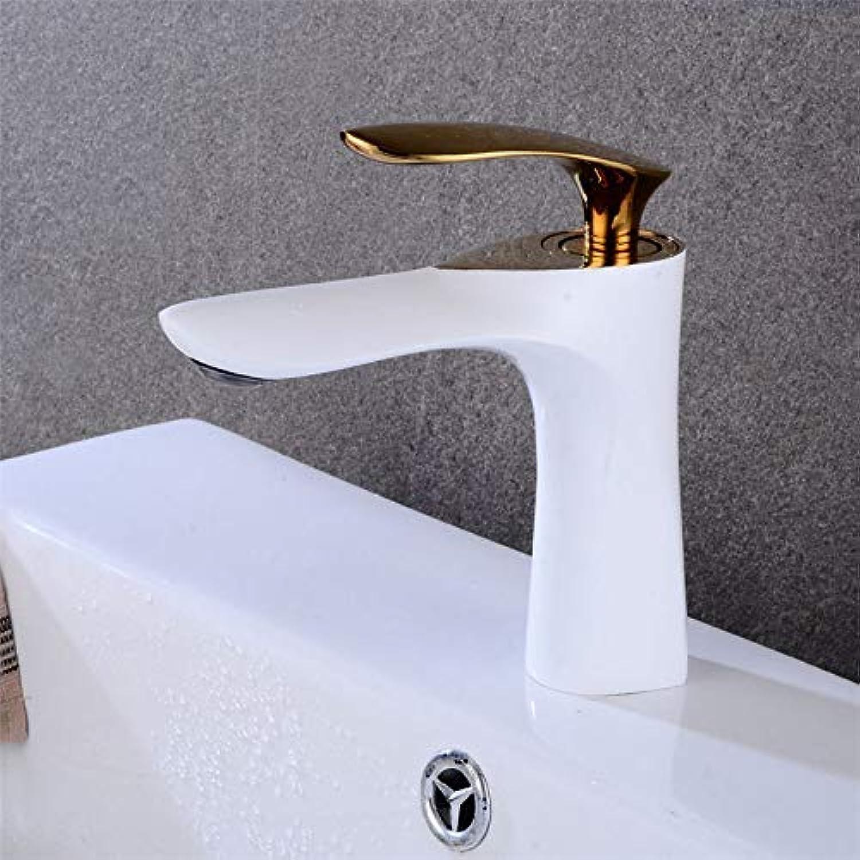 MARCU Home Wasserhhne Europische Farbe Weies Becken Wasserhahn Heie und kalte Retro Waschbecken Wasserhahn