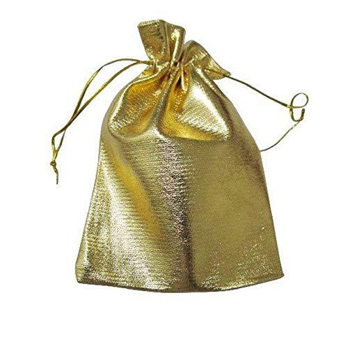 N-brand Leinen Jute Made Purse String Geschenktüte Schmuckbeutel Kordelzug Geschenktüte Khaki 20 Blatt Feine Handwerkskunst