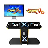 TAPDRA Pandora's Box 9D Vintage Retro Arcade Cabinet Machine with 2700 Games 2 Players Joystick HDMI and VGA 1280x720P HD Full-Size Commercial Wooden Console (with Coin Function)