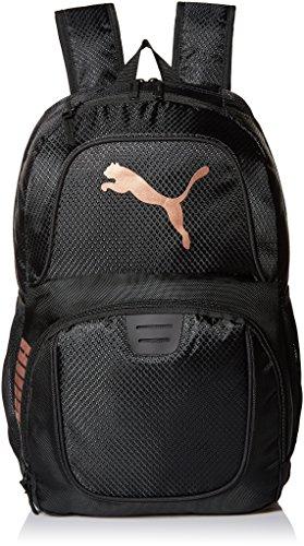 PUMA Herren Evercat Contender 3.0 Backpack Rucksäcke, schwarz/Gold, Einheitsgröße