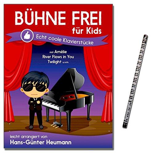 Bühne frei für Kids - 30 Echt coole Klavierstücken leicht arrangiert von Hans-Günter Heumann - mit Piano-Bleistift