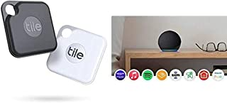 $104 » Tile Pro2-pack High Performance Bluetooth Tracker Keys Finder and Item Locator for Keys and Water Resistance and 1 Year Re...