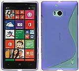 ENERGMiX S-Line TPU SchutzHülle kompatibel mit Nokia Lumia 930 Silikon Hülle in Lila