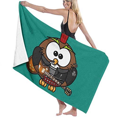 asdew987 Toallas de playa Búho Guitarras Toallas de baño para adolescentes niñas adultos toalla de viaje 31x51 pulgadas