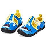 nerteo Boys Beach Sandals Kids Aqua Water Shoes for Pool, Camp Royal Blue/Whale US 8 Toddler