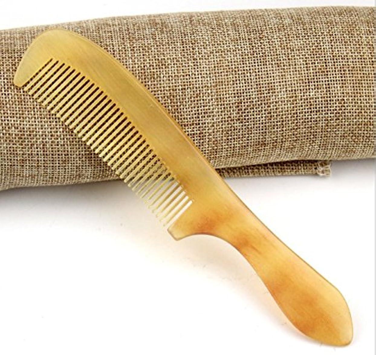 提出する感染する複製櫛型 羊角かっさプレート マサージ用 血行改善 高級 天然 静電気 防止 美髪