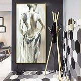 JHGJHK Arte Abstracto Personaje Pintura al óleo Pared sin Marco Pintura decoración Sala de Estar decoración del hogar Regalo