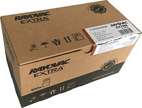600x Rayovac Extra Advance Gr. 312 Hörgerätebatterien - 100x 6er Blister PR41 Braun 24607