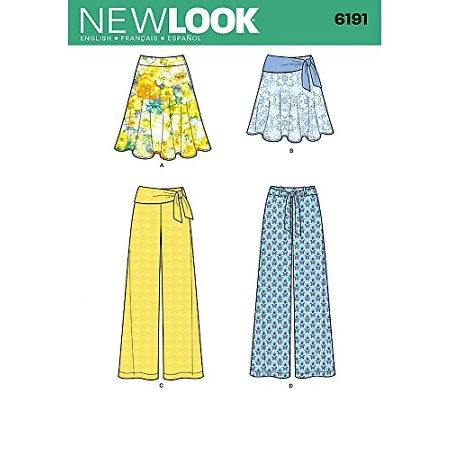 New Look Misses' Skirt, Pants and Tie Belt Pattern