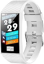 Smart Armband Polsband Smart Armband met Hartslag Slaap Monitor Bloeddruk Horloge Sport Smart Polsband Wit Kleur: wit