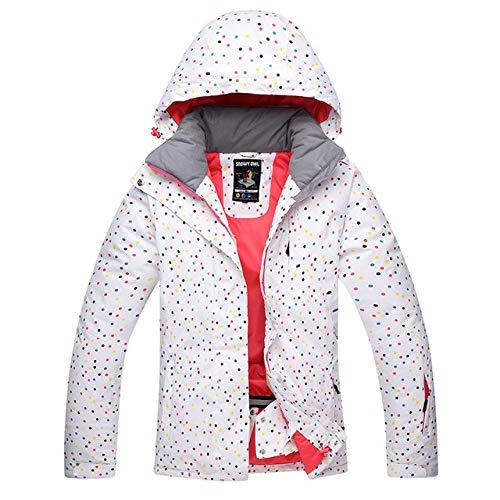 YHWW Combinaison de Ski Épaissir Warm Ski Suit Suit imperméable Coupe-Vent Ski et Snowboard Veste Pantalon Set Femme Costumes Snow Vêtements de Plein air, Seule Veste, XL