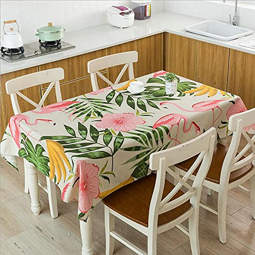 XXDD Mantel de Hoja de Planta Tropical Verde Impermeable y a Prueba de Polvo Mantel de Mesa de café para el hogar Fresco A9 140x180cm
