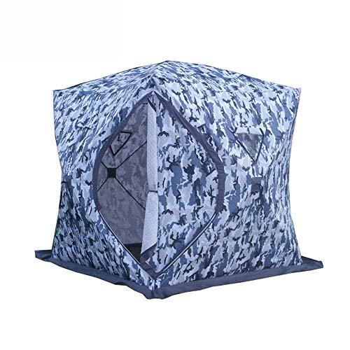 QQW Tenda Invernale Tenda Portatile da Esterno Pacchetto Spesso Cotone Mimetico Tenda Staccabile Pop Calda e da È L Ideale per Le Famiglie per i Brevi Fine Settimana in Famiglia,Camuffare,200X200X210