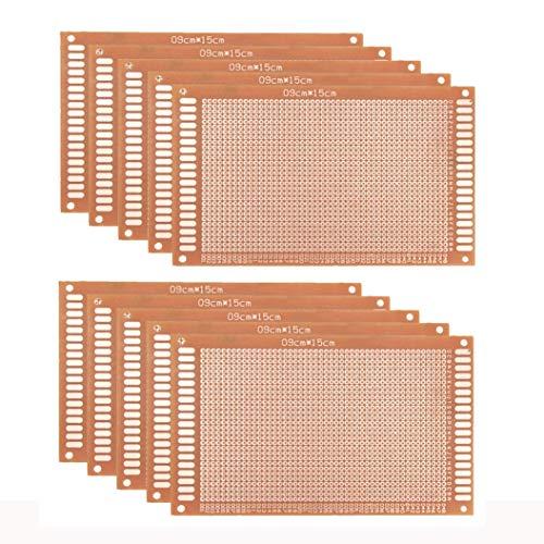 Jolicobo 10 Pcs Universal Breadboard DIY Prototype Paper PCB Circuit Board für Prototyping und elektronische Erstellung von Projekten